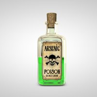 poison bottle 3D
