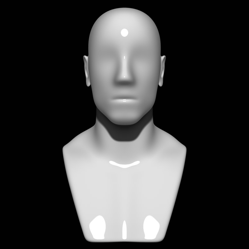 mannequin head man 3D model