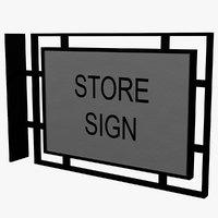 3D model storefront sign