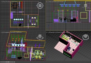 3D office arquitecture model