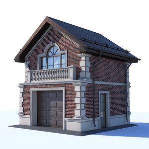 3D garage two-storey clinker model