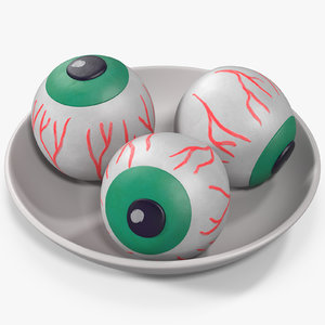 3D model candy eyeballs 2