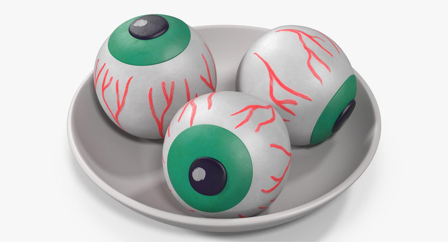 3D model candy eyeballs 2