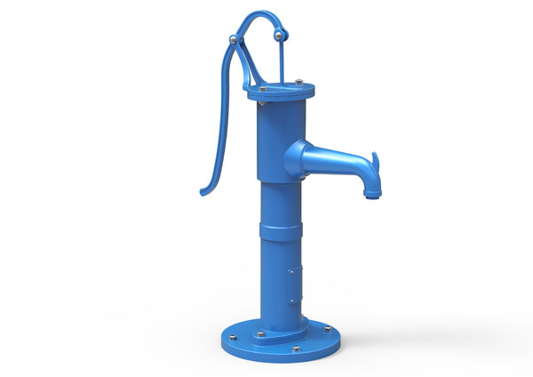 3D hand water pump old