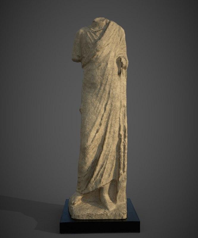 3D model hellenistic period statue