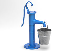 water pump bucket model