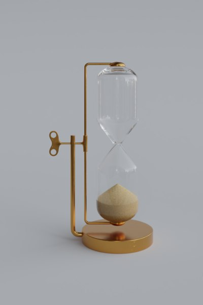 3D hourglass glass