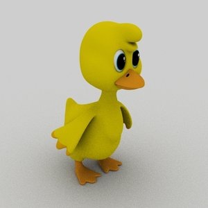 cartoon duck 3D model