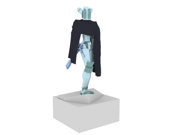3D wandering warrior cloak model