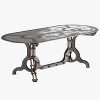 rust coffe table model