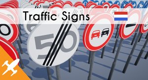 dutch traffic signs 3D model