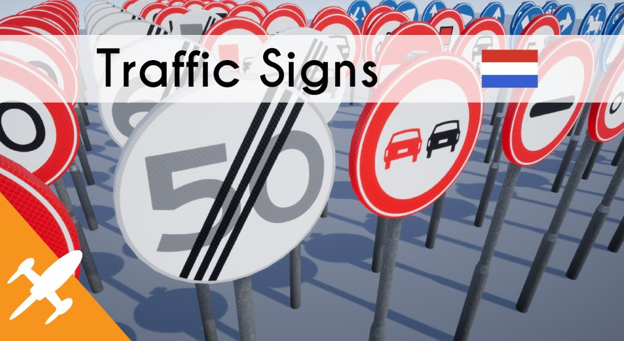 dutch traffic signs 3D model