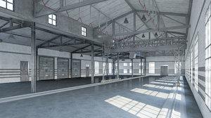 warehouse interior 2018 3D model