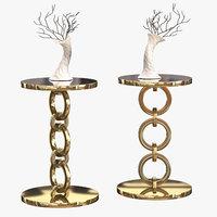 golden bracelet table model
