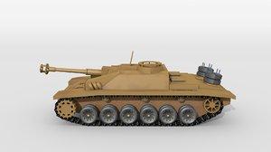 3D historical artillery tank