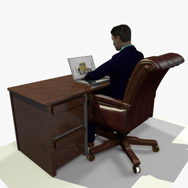 male business man 3D model