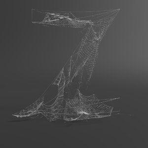 web letter z 3D model