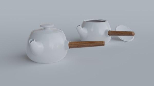 3D tea pot