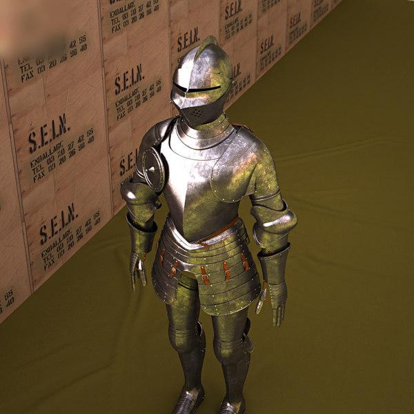3D model plate armour