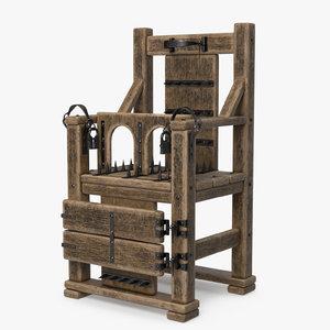 3D torture chair model