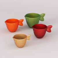 fish tea espresso cups 3D model