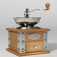 3D vintage coffee grinder