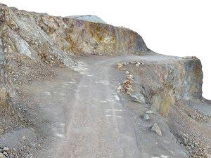 3D opencast mines road model