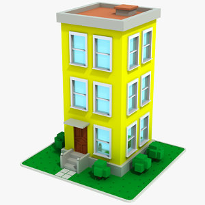 3D cartoon house 11