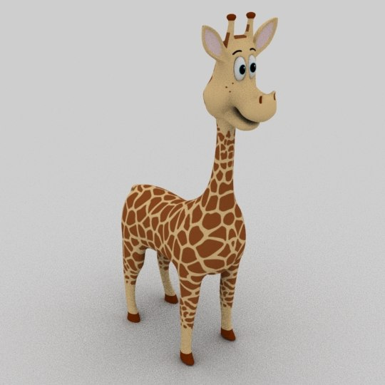 3D giraffe cartoon