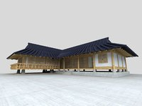 korea hanok 3D model