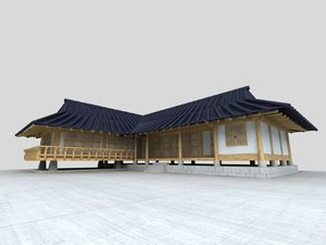 korea hanok 3D model