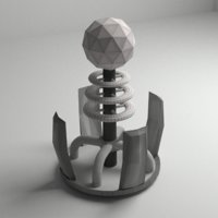 Tesla Coil Tower VR - AR Game Ready Low Poly 3d Model