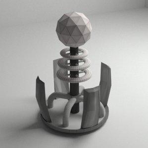 3D coil ready vr ar model