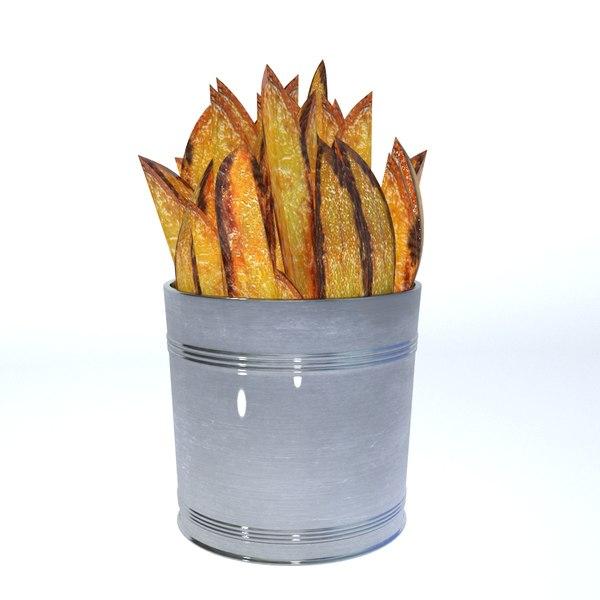 3D roasted potatoes