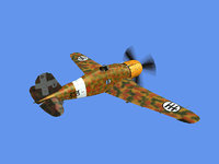 3D model italian fighter aircraft