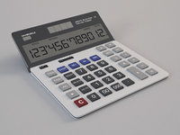 calculator digital 3D model