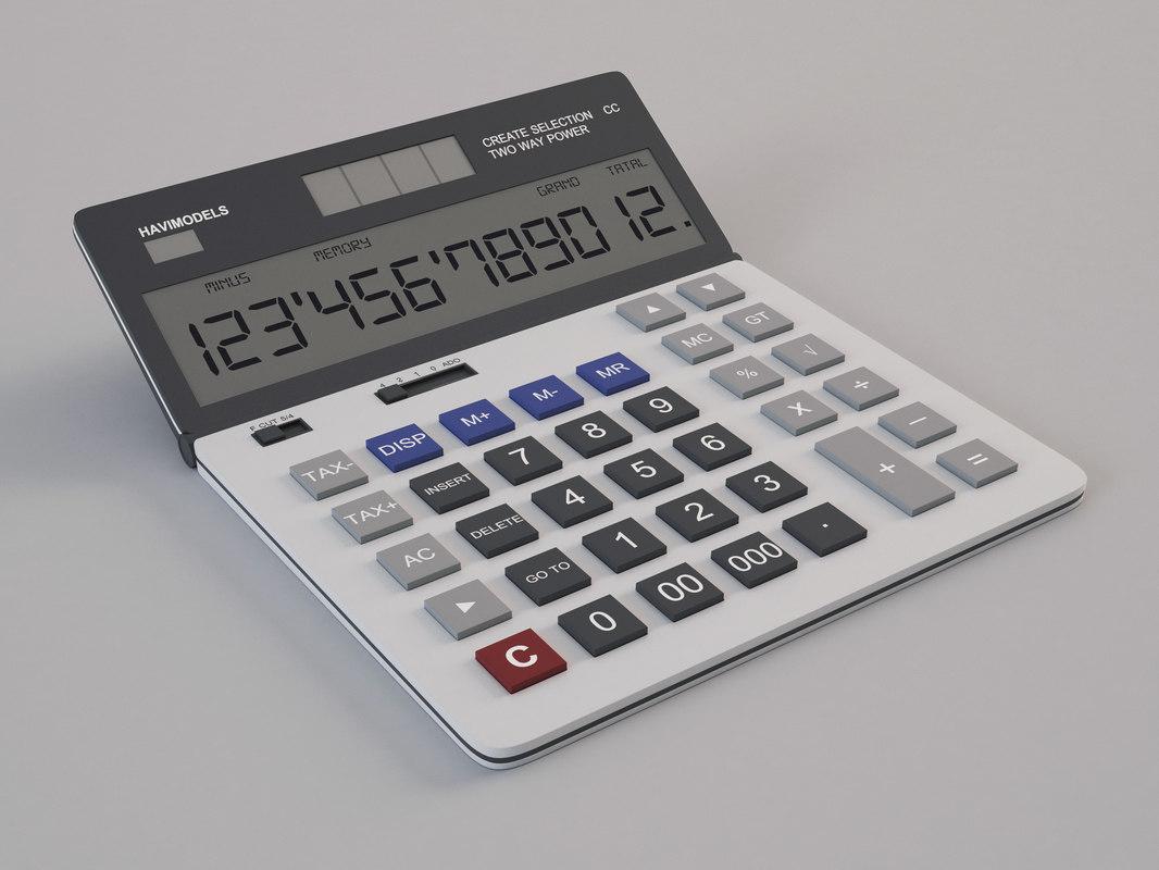 calculator digital 3D model