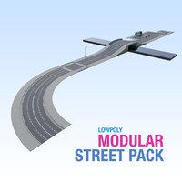 3D modular city street pack