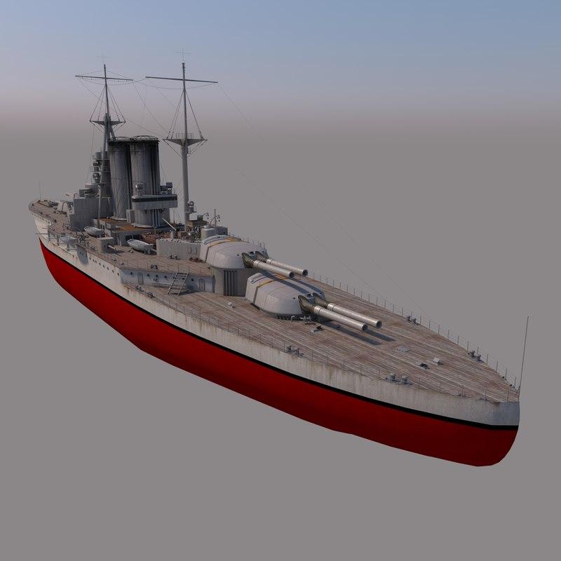 battleship queen elizabeth 3D