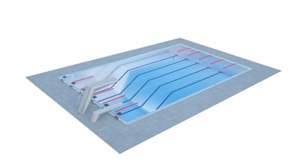 3D swimming pool sport