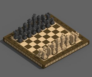 voxel chess 3D