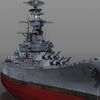 uss bb-63 1942-1945 missouri model