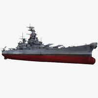 Battleship USS Missouri BB-63 WWII 1942-1945
