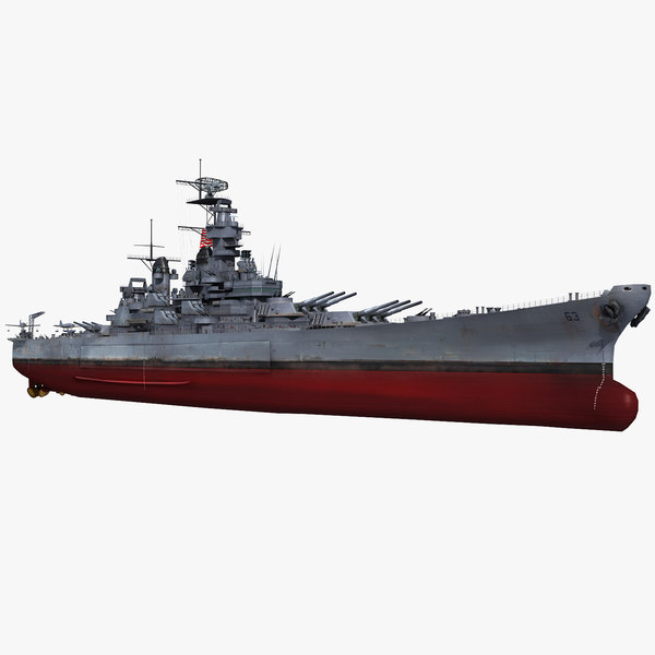 3D model uss missouri bb-63 1942-1945