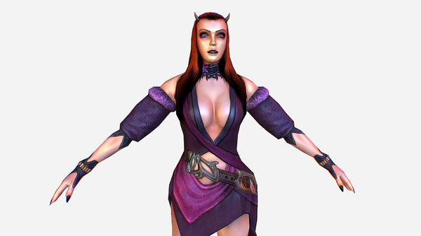 3D fantasy characters mmo rpg games model