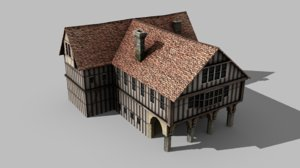 medieval town hall 3D