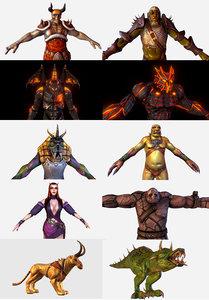 100$ - discount fantasy characters 3D model