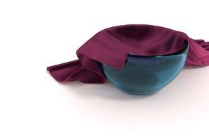 3D glass bowl model
