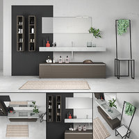 bathroom furniture set arcom 3D