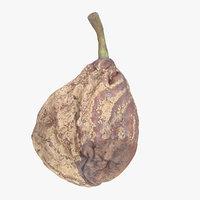 3D model pear rotten